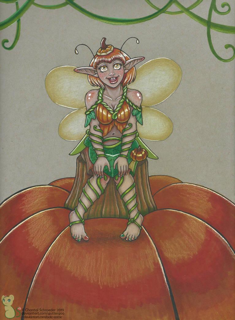 Pumpkin Dipper the Chipper Fall Fairy by BotC-Comic