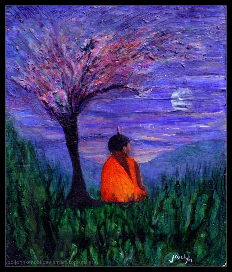 Buddha Under a Plum Tree by ObiJohnKenobi