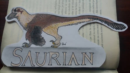 Saurian Dakotaraptor Steini Book Sign