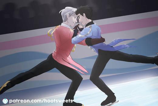 April Post Card - Yuri on Ice