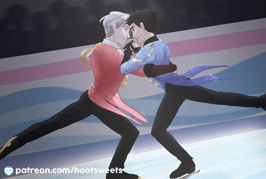 April Post Card - Yuri on Ice
