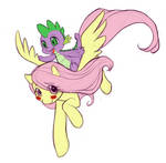 MLP FIM - Fluttershy and Spike