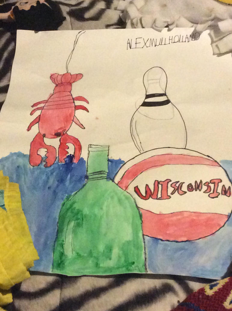 Painting/drawing thing I made in art class. by kiffangirl6