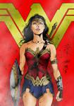 Wonder Woman (colored) from Batman v Superman Dawn
