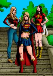 Wonder Girl, Supergirl and Mary Marvel by LordBlacknemp