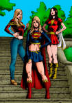 Wonder Girl, Supergirl and Mary Marvel