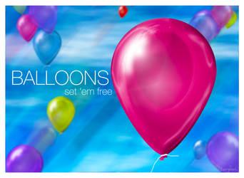 Balloons Set Free by LosingSarah