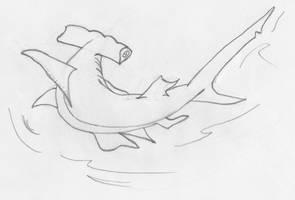 Hammerhead Shark by LosingSarah