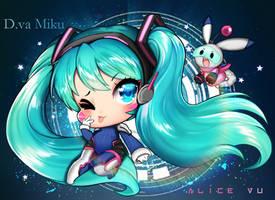 NERF THIS! [Hatsune Miku x D.va] by AliceVu134