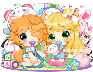 [Deluxe]CHIBICHU COMMISSION - Princess.kitten.opal by AliceVu134