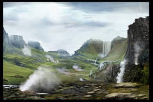 Concept Art: Lava Landscape 3 by Gycinn