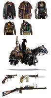Concept Art : Steampunk Western (Cowboys)