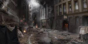 Black Rush Concept : lower city street
