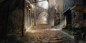 Concepting a medieval street