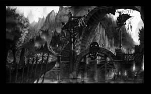 Concept :Warhammer Waaagh Bridge by Gycinn