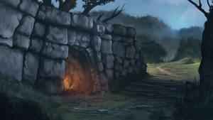 Ruin Wall by Gycinn