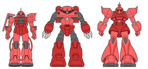 Char's Mobile Suits by ironscythe