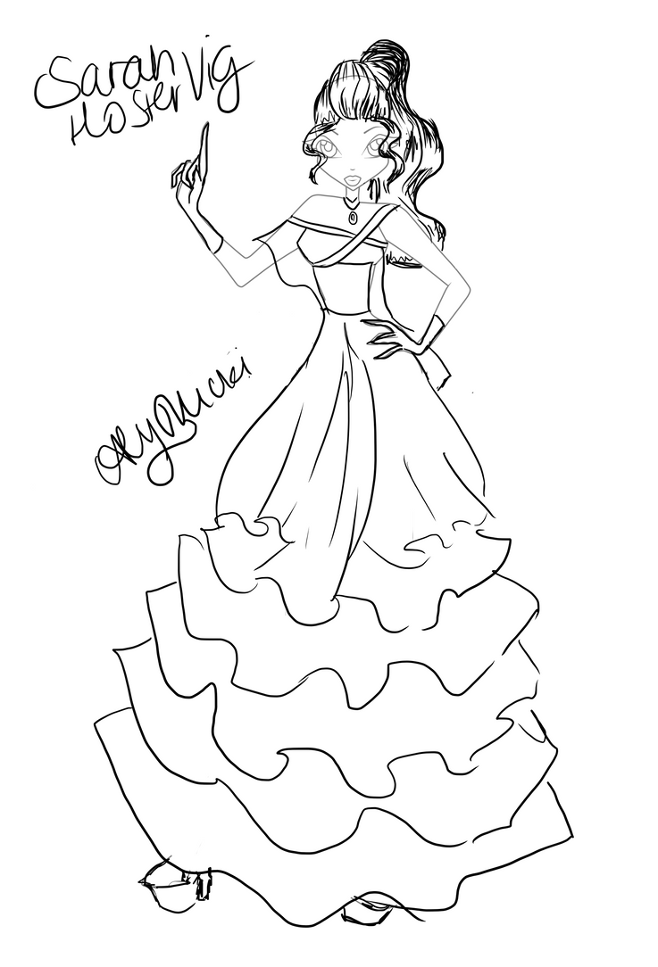 Ballgown Commission by GlitterHell