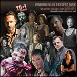 The Walking Dead Render Pack #1