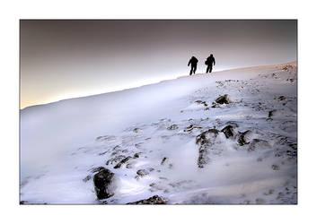 On the mountain II by heida