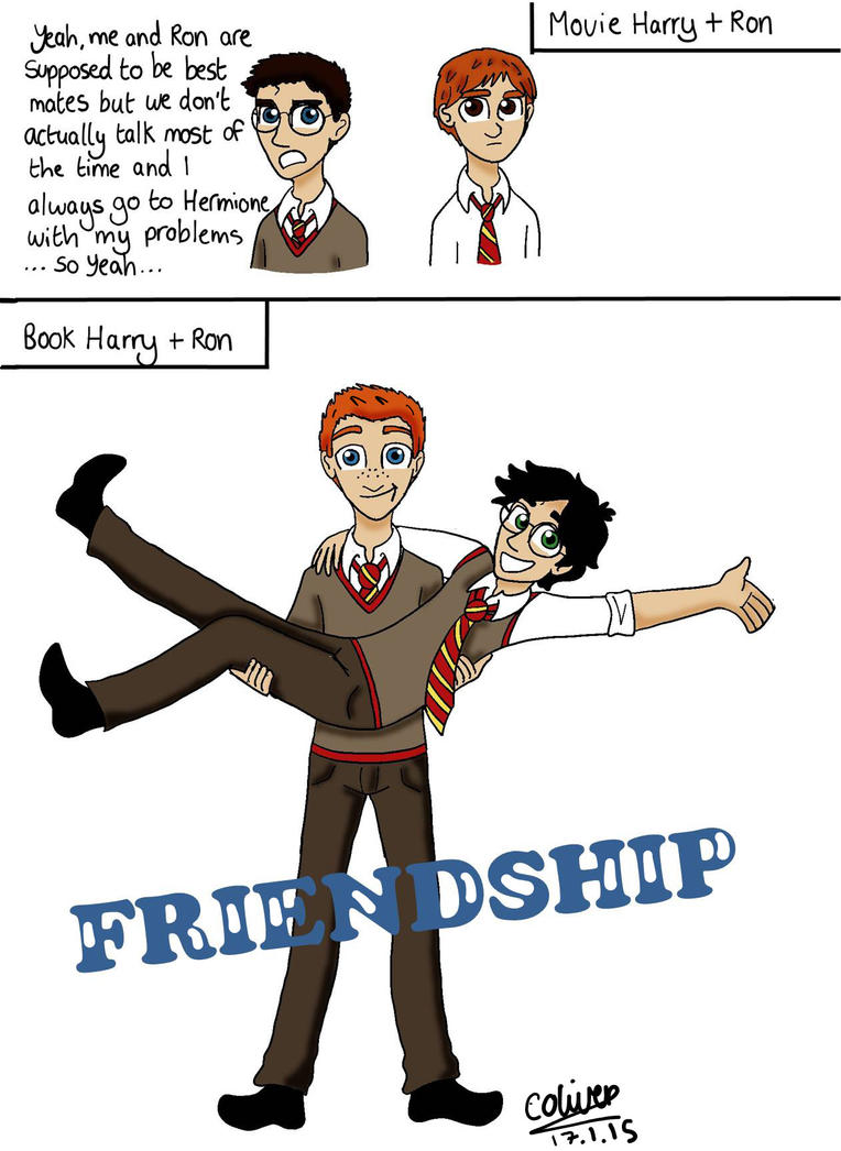Harry + Ron= the ultimate friendship by TheLilAlien