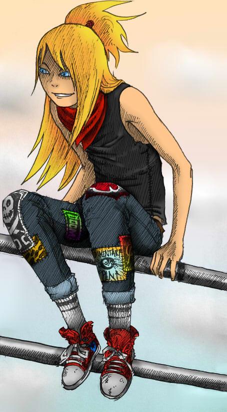 Punk Rock Deidara by yukarilolz