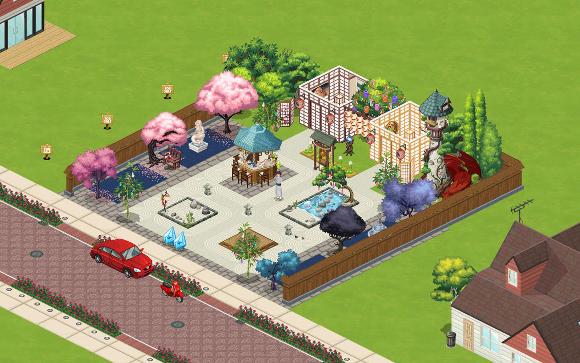 Japanese themed garden by solefall on deviantart for Japanese themed garden