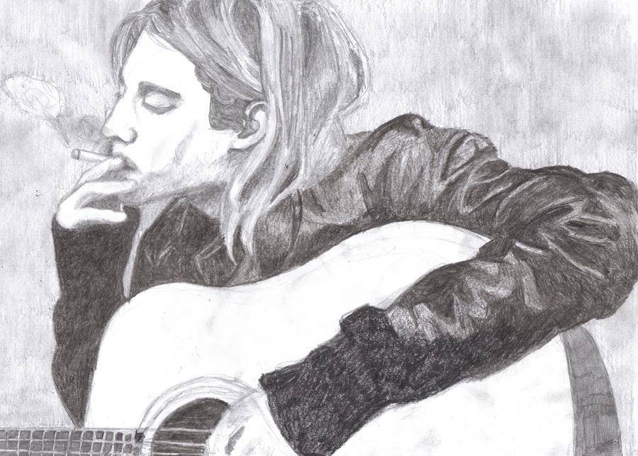 Kurt Cobain smoking by...