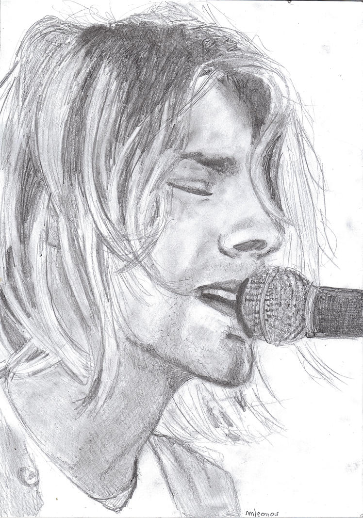 Kurt cobain singing by mleonow on deviantart