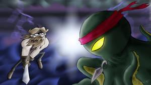 Beardyman vs Ninja Octopus by Wonchop