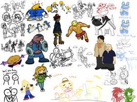 Tumblr Doodles pt. 4 by Wonchop