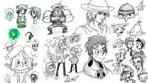 Tablet Doodles 1 by Wonchop