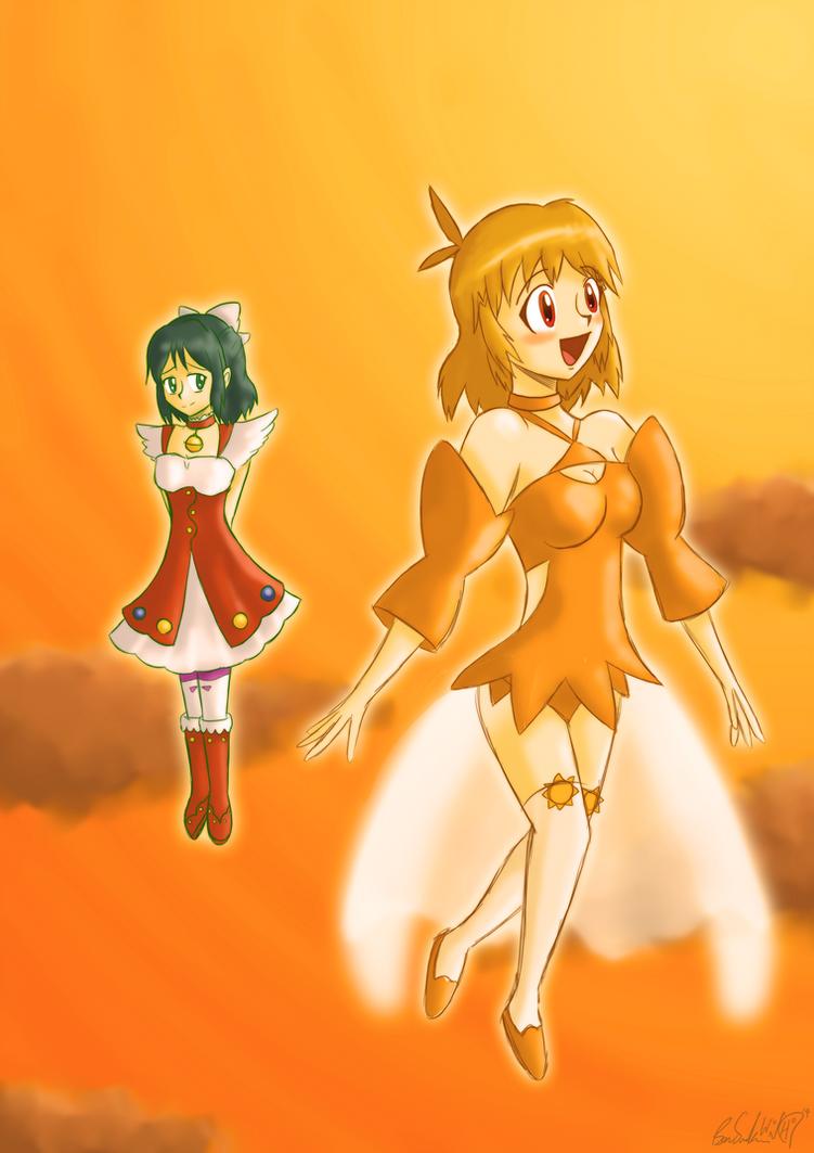 Hibiki and Miku by Wonchop