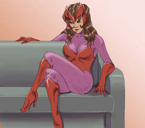 scarlet witch by ElZeviour