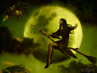 Halloween moon by AprilKnight
