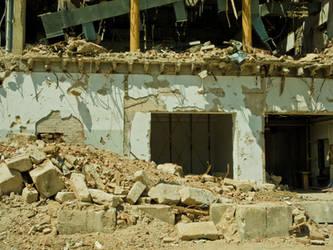 Stuttgart 21, site, destruction, debris and ash by basquiat79