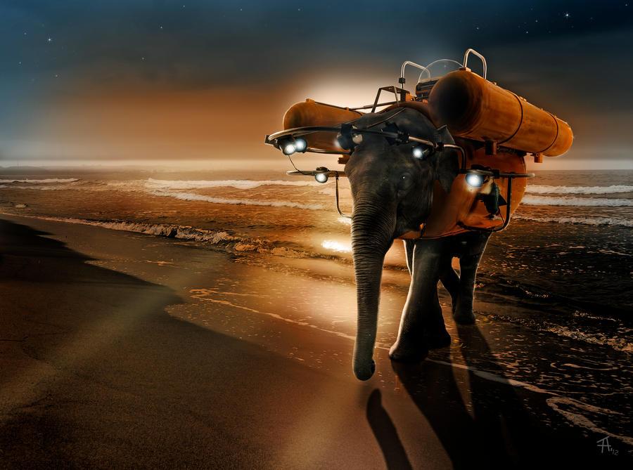 submarine elephant by basquiat79