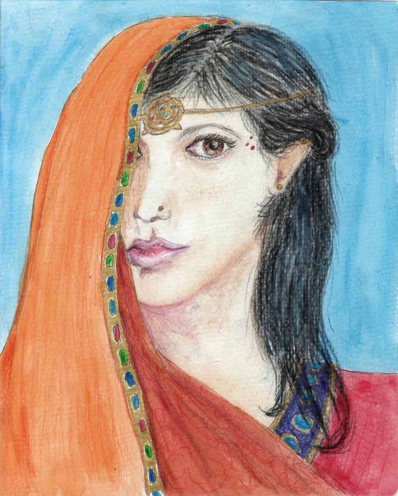 The poet Mirabai by Tinka-Rothchild
