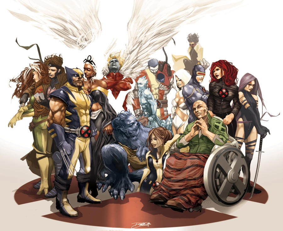 X-Men Family Photo by daguillo84