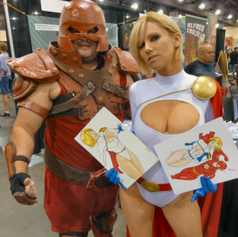 Jugghead and power girl AZ Powergirl by wiler11