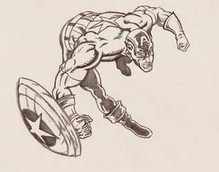 Captain America Pencil Sketch by radicalthunder