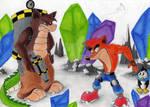 Dingodile against Crash