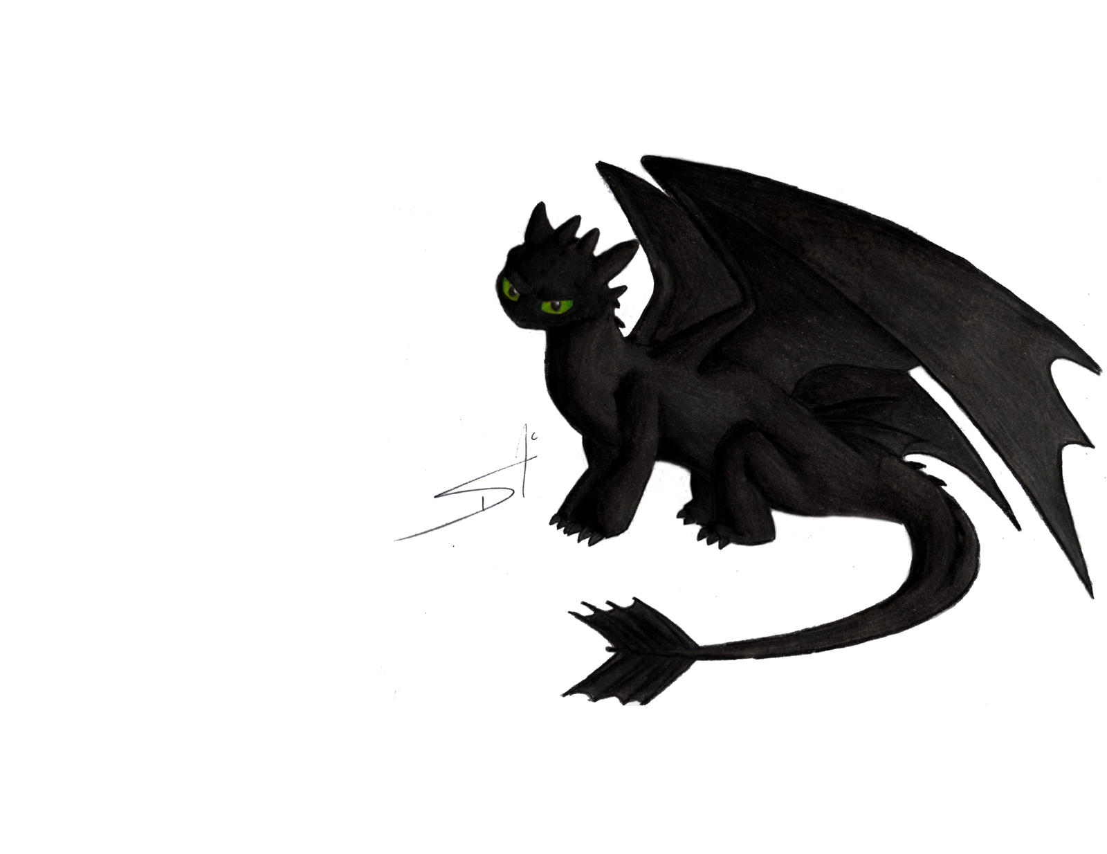 aw is toothless by DSA09