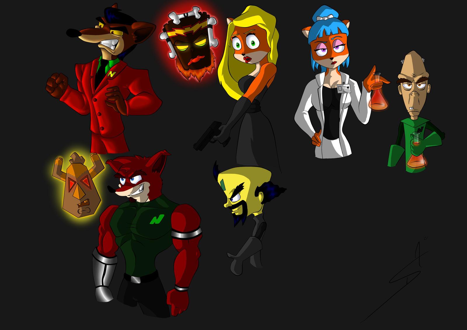random crash bandicoot characters by DSA09 on DeviantArt