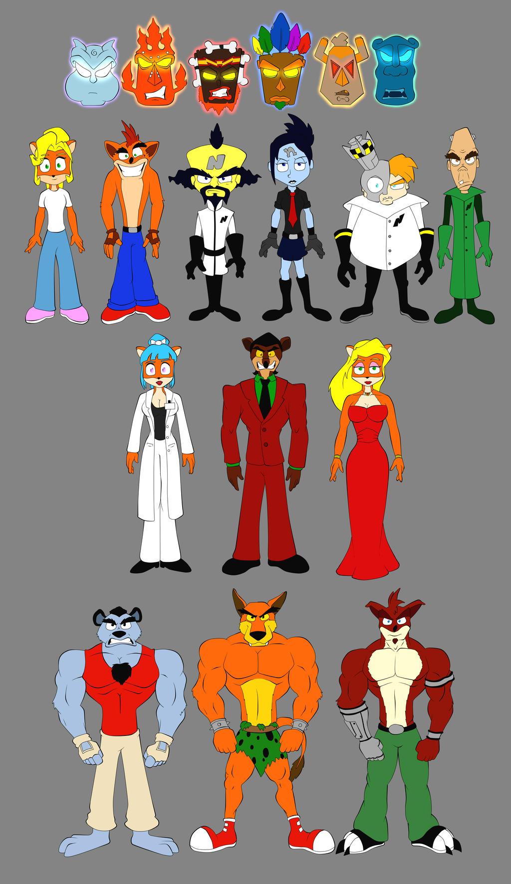 Crash bandicoot many characters by DSA09 on DeviantArt