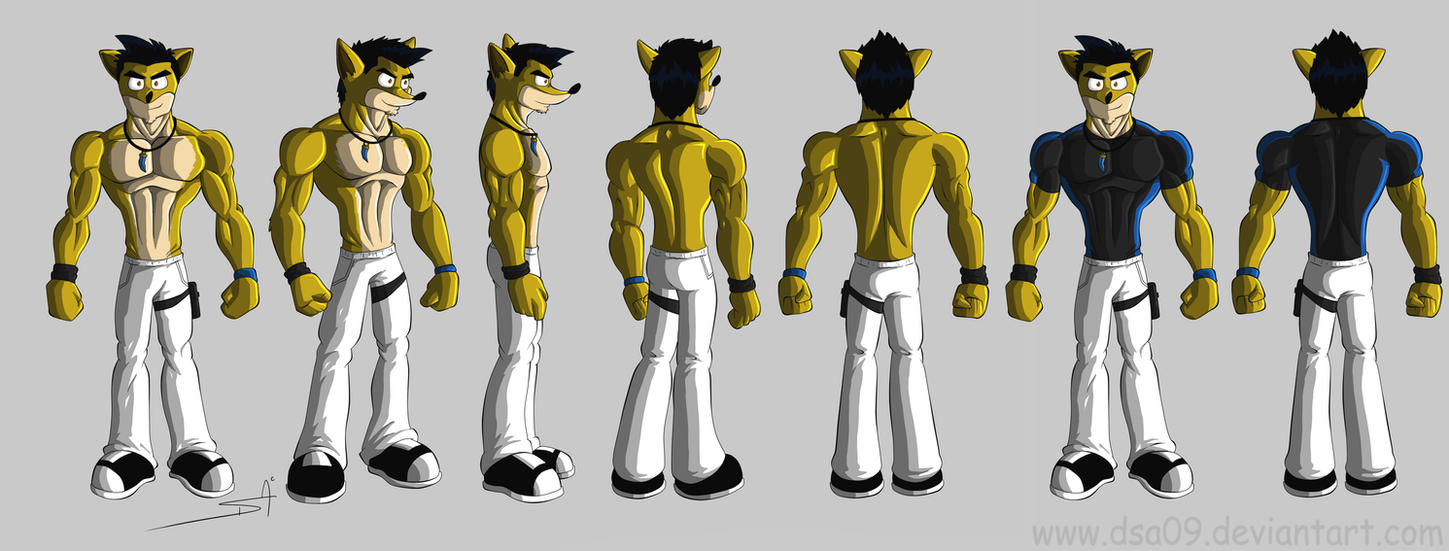 OC Daniels Bandicoot Turn Around by DSA09