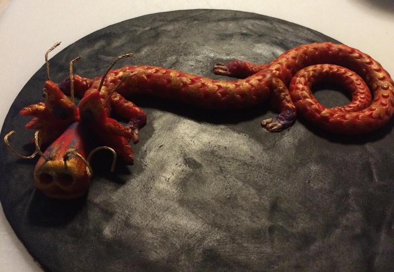 Fondant dragon by LadyGray01