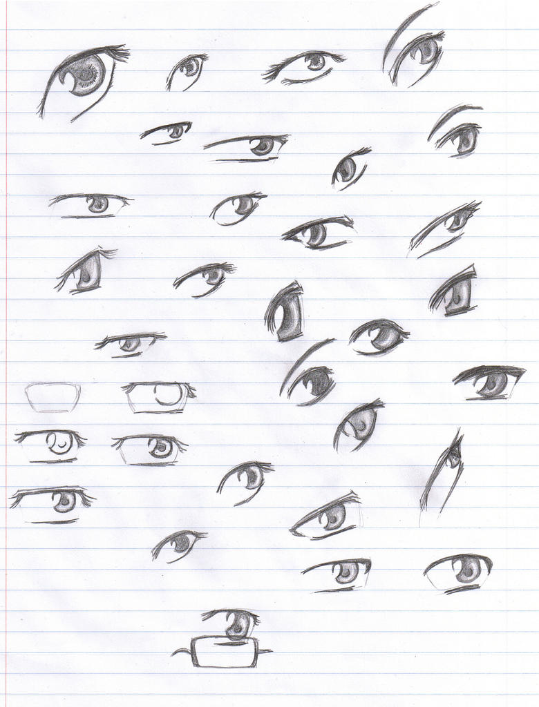 how to draw anime eyes with pencil