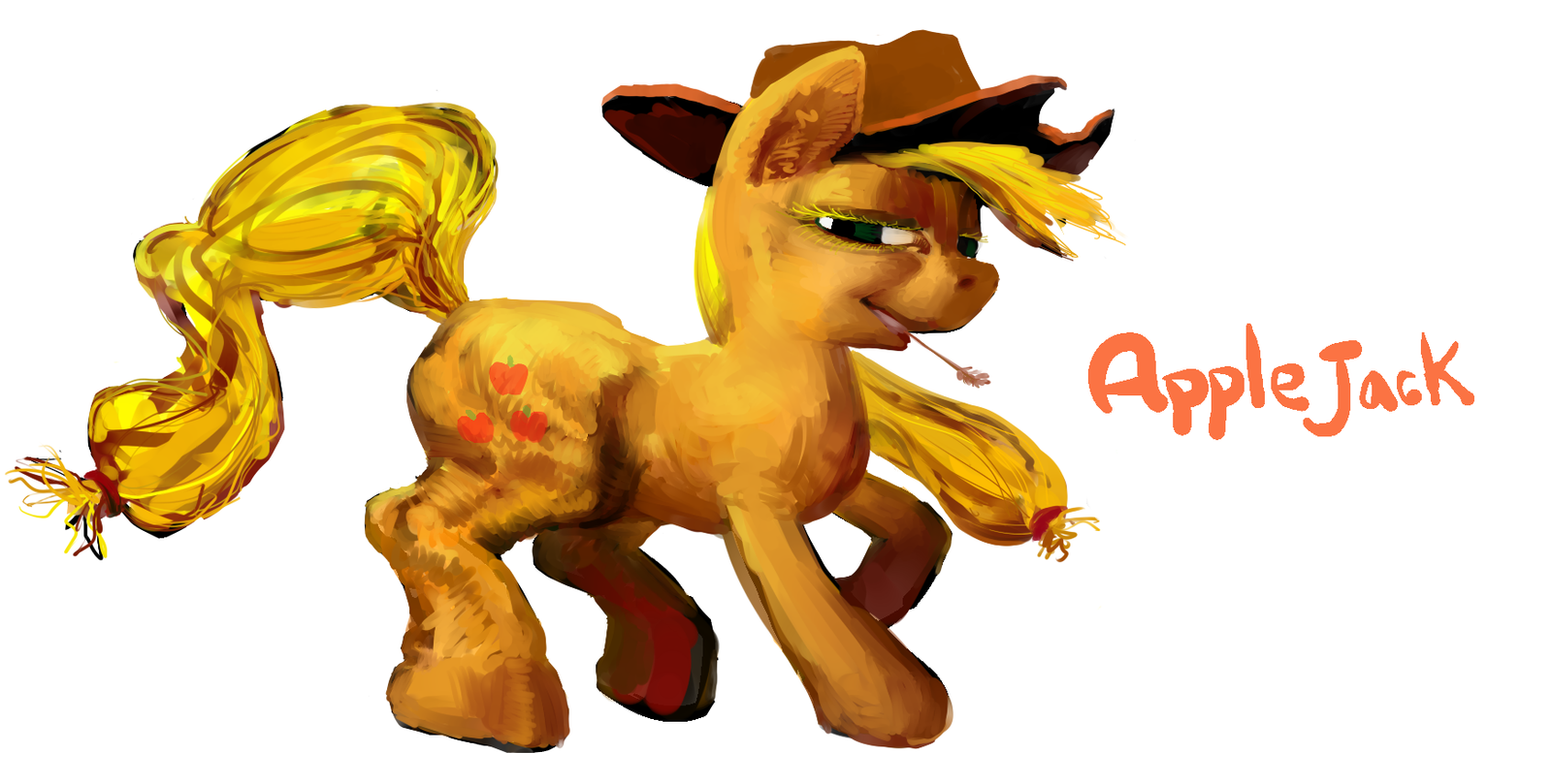 AppleJack the buck mare by ja0822ck