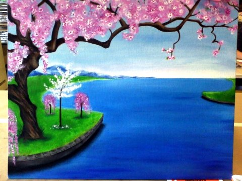 Cherry Blossom Painting By TheFirstPage